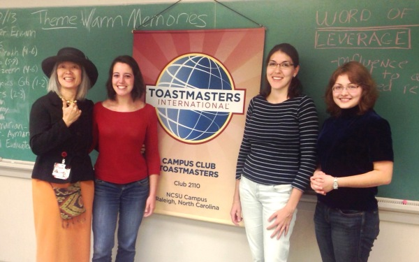 On October 30th, our club was visited by international guests: Camille from France and Marion from Barcelona, Spain (also a Toastmaster).