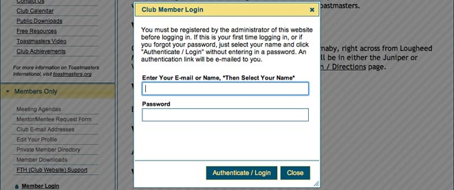 How do you make a website for members only?